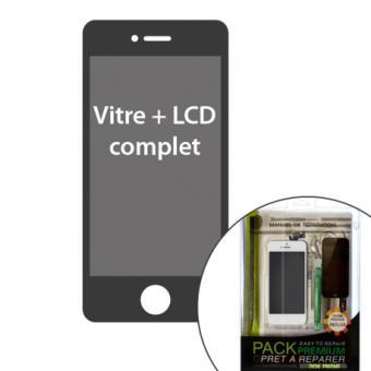 iphone 5s kit pr t r parer vitre lcd blanc avec l ments. Black Bedroom Furniture Sets. Home Design Ideas