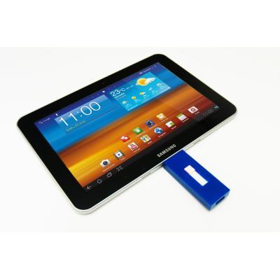 Clé USB pour tablettes Samsung Galaxy TabL´A-USBKey GT de Bidul&Co est la première clé usb spécialement dédiée aux tablettes Galaxy Tab de Samsung, elle vous permettra de transférer vos fichiers simplement entre votre tablette et votre ordinateur (PC ou M