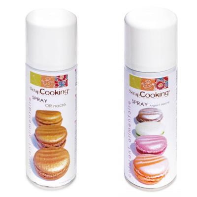Image du produit Colorants alimentaires or et argent - Spray