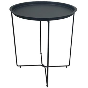 table en m tal ronde pliante plateau amovible int rieur terrasse noir top prix fnac. Black Bedroom Furniture Sets. Home Design Ideas