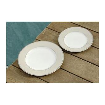cot table ginger assiette plateen porcelaine ivoire et platine par6 achat prix fnac. Black Bedroom Furniture Sets. Home Design Ideas