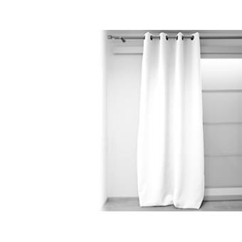 Soleil d 39 ocre rideau oeillets occultant 140x240 cm blanc for Rideau occultant 140x240