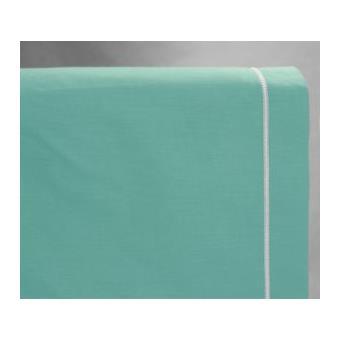 drap housse 160x200 cm couleur turquoise 100 coton gamme bella achat prix fnac. Black Bedroom Furniture Sets. Home Design Ideas