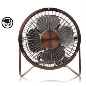 mp Copper Mini Ventilateur USB Rotatif a  degres Coffee w