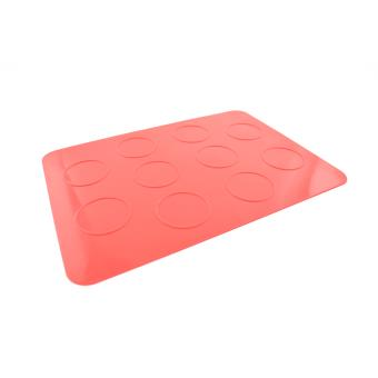 c coa ring feuille de cuisson macaron silicone 10 disques rouge achat prix fnac. Black Bedroom Furniture Sets. Home Design Ideas