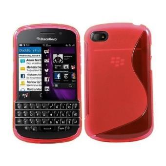 Housse coque gel pour blackberry q10 rouge achat prix for Housse blackberry q10