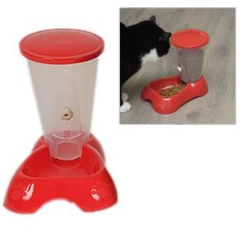 distributeur de croquettes pour chat et chien rouge achat prix fnac. Black Bedroom Furniture Sets. Home Design Ideas