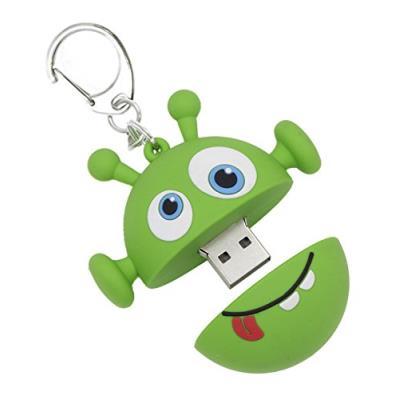Facile à utiliser Capacité de 8 GB Attache porte clefs pour plus de portabilité Connecteur USB reste protégé Couleur : Vert