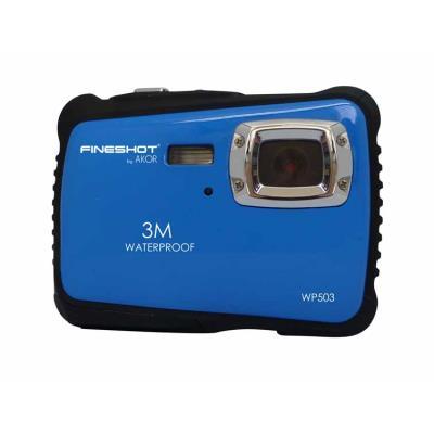 Appareil photo numérique ÉTANCHE (3 mètres max) 12 millions de pixels par interpolation 5 millions optiques, flash, écran 2,4´´ TFT, zoom digital 4X, fonction vidéo & webcam, entrée carte micro SD (32GO max). Livré avec pochette, cordon USB, logiciel de p