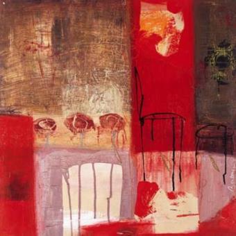Art abstrait contemporain poster reproduction la chaise - Chaise art contemporain ...