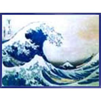 poster reproduction encadr katsushika hokusai la grande vague de kanagawa 60x80 cm cadre. Black Bedroom Furniture Sets. Home Design Ideas