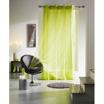 voilage double oeillets bye vert achat prix fnac. Black Bedroom Furniture Sets. Home Design Ideas
