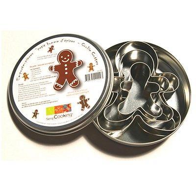 Image du produit Boîte 3 découpoirs inox - Petit homme d´épices