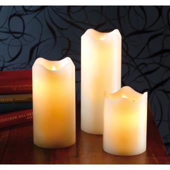 bougies en cire 224 led avec flamme vacillante achat prix fnac