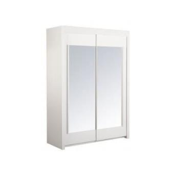 suny armoire porte coulissante 156 cm blanche achat. Black Bedroom Furniture Sets. Home Design Ideas