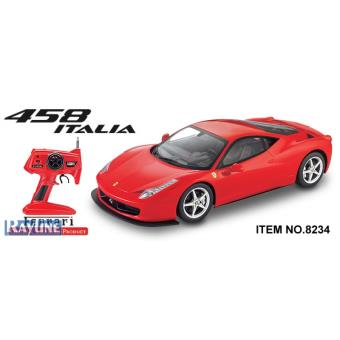 voiture radiocommand e ferrari 458 rouge italia 1 10 achat prix fnac. Black Bedroom Furniture Sets. Home Design Ideas