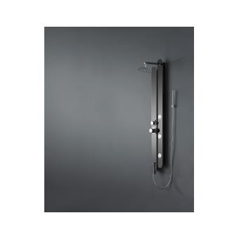 colonne de douche baln o en inox noir finition black mirror 150x18cm s172 achat prix fnac. Black Bedroom Furniture Sets. Home Design Ideas