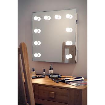 Miroir pour maquillage et loge de th tre k89 hollywood for Miroir loge de star