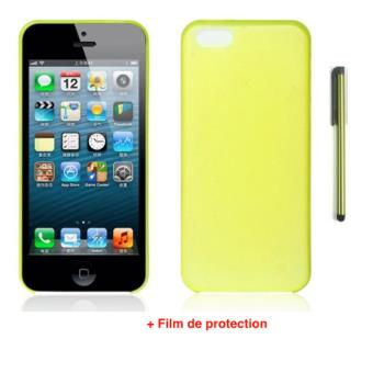 etui coque jaune gel film et stylet pour apple iphone 5c achat prix fnac. Black Bedroom Furniture Sets. Home Design Ideas