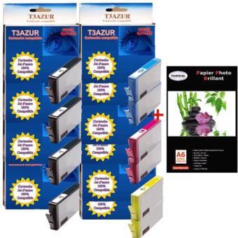 lot de 10 cartouches compatibles hp364 xl hp 364 xl. Black Bedroom Furniture Sets. Home Design Ideas
