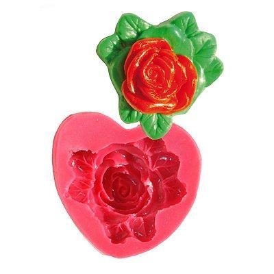 Image du produit ScrapCooking® - Moule en silicone - Moule à pâte à sucre : Rose