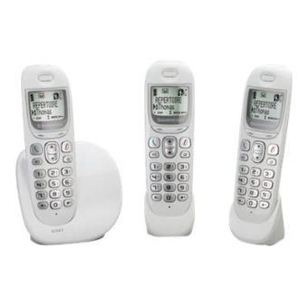 sagemcom d38t trio t l phone sans fil avec id d 39 appelant. Black Bedroom Furniture Sets. Home Design Ideas