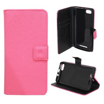 Etui housse coque portefeuille wiko lenny 3 rose achat for Housse wiko lenny 4