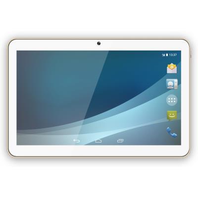Réseau 3G / 2G Double Sim Écran 10.1´´ IPS Android(TM) 4.4 KitKat Processeur Quad-Core 1.2GHz Appareil photo 5 Mégapixels Appareil photo frontal 5 Mégapixels Mémoire Interne de 8Go Mémoire RAM de 512Mo