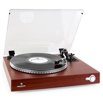 auna tt 931 platine vinyle entrainement courroie avec adaptateur 45t couvercle design. Black Bedroom Furniture Sets. Home Design Ideas