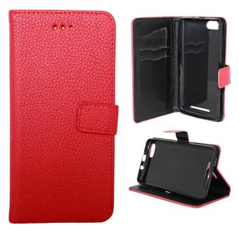 Etui housse coque portefeuille wiko lenny 3 rouge for Housse wiko lenny 4