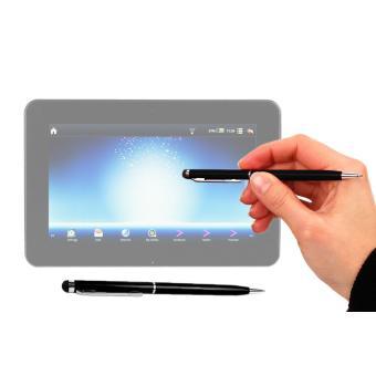 Stylet tactile noir 2 en 1 stylo pour cran de tablette - Ecran tactile tablette polaroid ...
