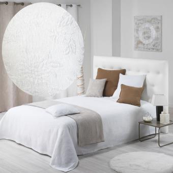 couvre lit 180x250 piqu coton lindley blanc achat prix fnac. Black Bedroom Furniture Sets. Home Design Ideas