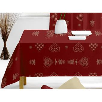 nappe rectangulaire courchevel rouge achat prix fnac. Black Bedroom Furniture Sets. Home Design Ideas