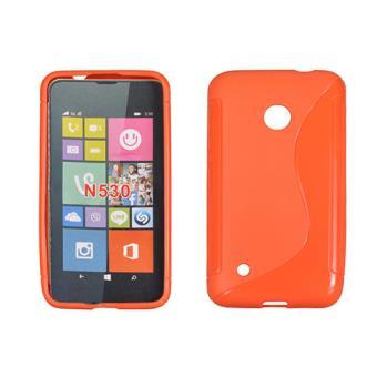coque tpu type s pour nokia lumia 530 orange achat. Black Bedroom Furniture Sets. Home Design Ideas
