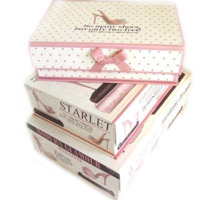Image du produit Les Trésors De Lily [M3979] - Set de 3 boîtes à Souvenirs gigognes ´Belle Epoque´ beige rose