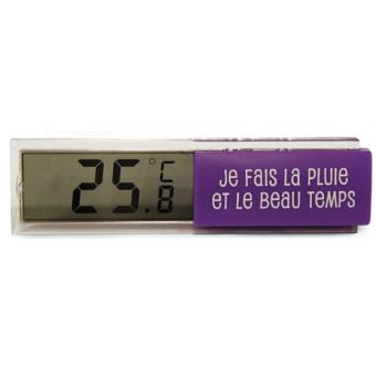 Thermom tre digital d 39 int rieur violet achat prix fnac for Thermometre interieur digital