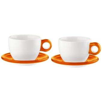 guzzini gocce lot de 2 grandes tasses pour petit d jeuner orange achat prix fnac. Black Bedroom Furniture Sets. Home Design Ideas