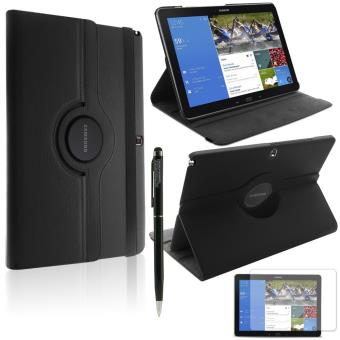 mp HOUSSE  COQUE ROTATIVE ETUI TABLETTE SAMSUNG Galaxy Note Pro Noir FILM STYLET w