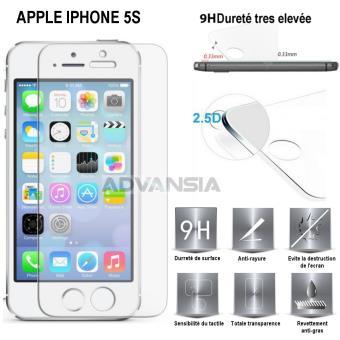 apple iphone 5s vitre protection d 39 ecran en verre tremp incassable tempered glass apple iphone. Black Bedroom Furniture Sets. Home Design Ideas