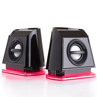 enceinte haut parleur portable pc led rouges achat. Black Bedroom Furniture Sets. Home Design Ideas
