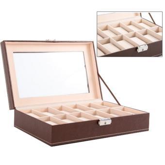 boite coffret de rangement montres pour 12 montres simili cuir achat prix fnac. Black Bedroom Furniture Sets. Home Design Ideas