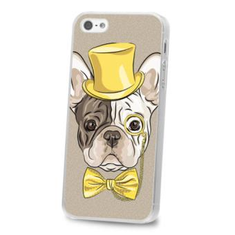 coque iphone 5 5s se bulldog chien noeud papillon or dore achat prix fnac. Black Bedroom Furniture Sets. Home Design Ideas