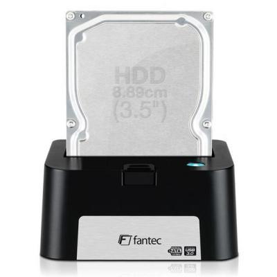 Fantec MR-U3e. Type de support de stockage: HDD, SSD, Dinterface pour unité de stockage: eSATA, USB 3.0, Tailles de disque de stockage pris en charge: 63.5.88.9 mm (2.5.3.5 ). Tension dentrée AC: 200-240 V, Fréquence dentrée AC: 50 60 Hz, Courant dentrée: