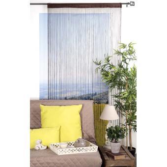 rideau fil 140x240 cm finition passe tringle couleur gris achat prix fnac. Black Bedroom Furniture Sets. Home Design Ideas