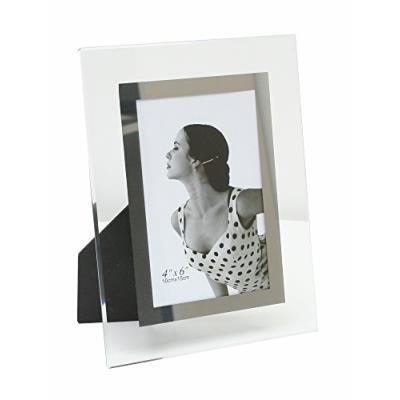 Cadre Photo avec Filet Verre Transparent Argenté Matière Verre Couleur Transparent