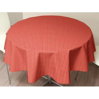 nappe toile cir e ronde vichy rouge achat prix fnac. Black Bedroom Furniture Sets. Home Design Ideas