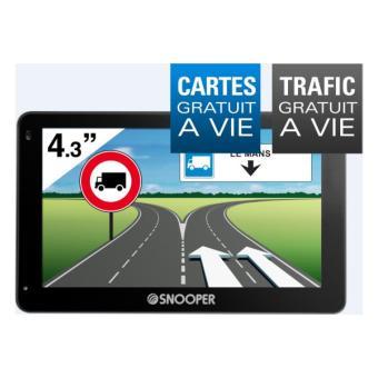 Navigation GPS SNOOPER PL2400 NOIR EUROPE CARTE A VIE