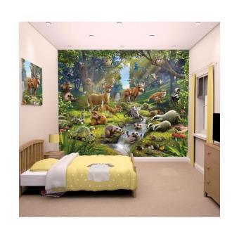 papier peint enfant animaux de la forêt walltastic papier peint