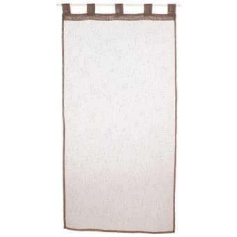 2 voiles pour fen tre 60 x 120 cm taupe achat prix for Fenetre 60x120