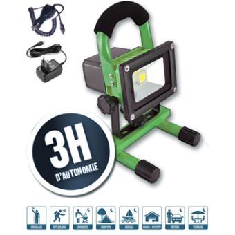 spot projecteur 10 w leds haute puissance sans fil tanche 12v et 220v achat prix fnac. Black Bedroom Furniture Sets. Home Design Ideas